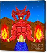Fire Demon Canvas Print