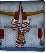 Fire Department Christmas 3 Canvas Print
