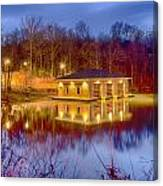 Fire Department Rescue Building On Water Canvas Print