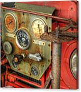 Fire Department Tanker Controls Canvas Print