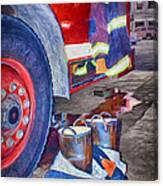 Fire Engine - Firemen - Equipment Canvas Print