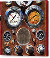 Fire Engine Gauges Canvas Print