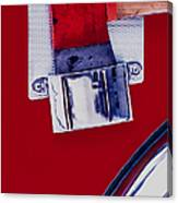 Fire Engine Red And Chrome Canvas Print