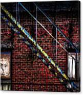 Fire Escape And Windows Canvas Print