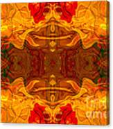 Fire In The Sky Abstract Pattern Artwork Canvas Print