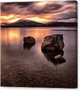 Fire In The Sky Loch Lomond Canvas Print