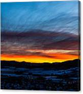 Fire In The Sky - Steamboat Sunset Canvas Print