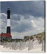 Fire Island Light From The Beach Canvas Print