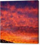 Fire On The Hillside Canvas Print