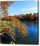 Fire On The River Canvas Print