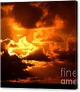 Fire Over The Ocean Canvas Print