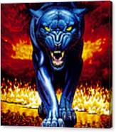 Fire Panther Canvas Print