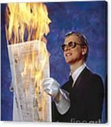 Fire Reader Canvas Print