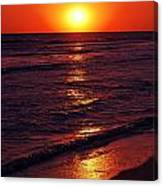 Fire Red Sunset Canvas Print