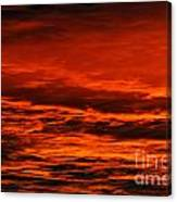 Fire Reds Sunset Canvas Print