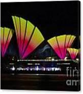 Fire Sails - Sydney Vivid Festival - Sydney Opera House Canvas Print