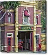 Fire Station Main Street Disneyland 01 Canvas Print