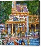 Fire Truck Main Street Disneyland Photo Art 02 Canvas Print