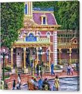 Fire Truck Main Street Disneyland Canvas Print