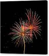 Fire Works In Sky Canvas Print
