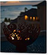 Firebowl At Night Canvas Print