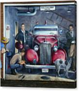 Firehall Mural Sultan Washington 1 Canvas Print