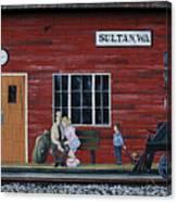 Train Station Mural Sultan Washington 3 Canvas Print
