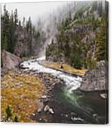Firehole Canyon - Yellowstone Canvas Print