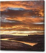 Firehole Sunset Canvas Print