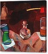 Firehouse Pub In Brown Canvas Print