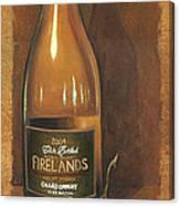 Firelands Chardonnay Canvas Print