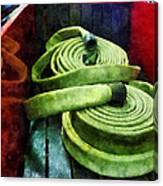 Fireman - Coiled Fire Hoses Canvas Print