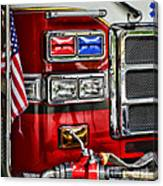 Fireman - Fire Engine Canvas Print