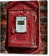 Fireman - The Fire Alarm Box Canvas Print