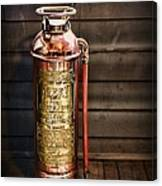 Fireman - Vintage Fire Extinguisher Canvas Print
