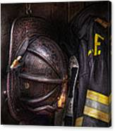 Fireman - Worn And Used Canvas Print