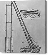 Fireman's Hydraulic Lift Patent Drawing Canvas Print