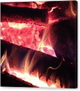 Fireside - Close-up Canvas Print