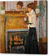Fireside Canvas Print