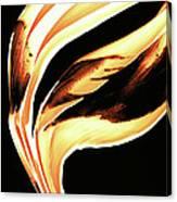 Firewater 2 - Buy Orange Fire Art Prints Canvas Print