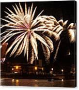 Firework Explosions Canvas Print
