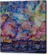 Firework Of Chinook Canvas Print