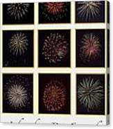 Fireworks - White Background Canvas Print