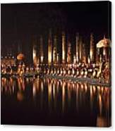 Fireworks At Festival In Thailand Canvas Print