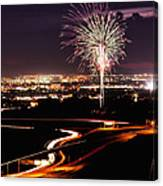 Fireworks At Sugarhouse Park Canvas Print