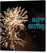 Fireworks Birthday Canvas Print
