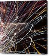 Fireworks Cropped Canvas Print