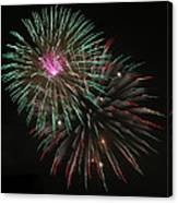 Fireworks Exploding Canvas Print