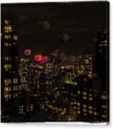 Fireworks From My Window 1 - Manhattan Canvas Print