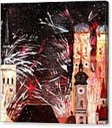 Fireworks In Munich Canvas Print